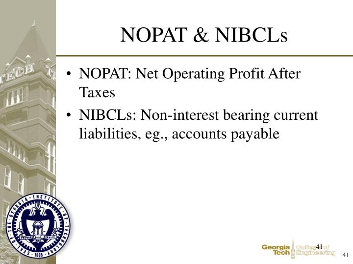 NOPAT: Net Operating Profit After Taxes