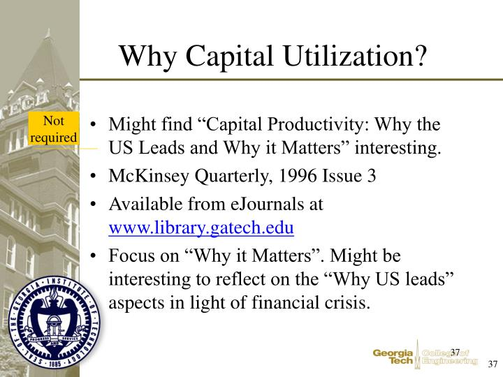 "Might find ""Capital Productivity: Why the US Leads and Why it Matters"" interesting."