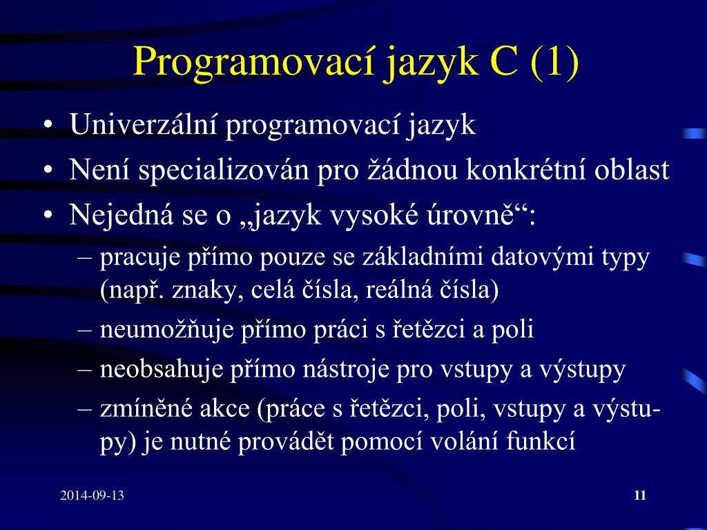 PPT - IB001 – Úvod do programování skrze C PowerPoint