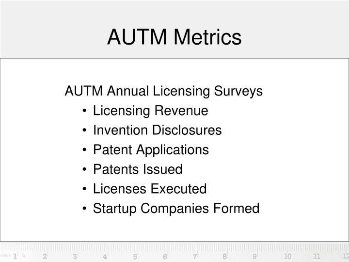 AUTM Metrics