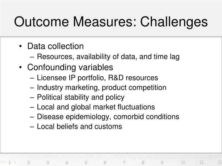 Outcome Measures: Challenges