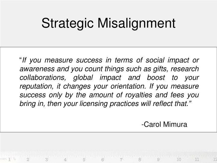 Strategic Misalignment