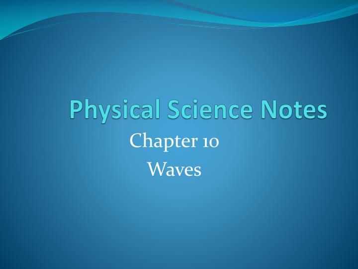physical science notes n.