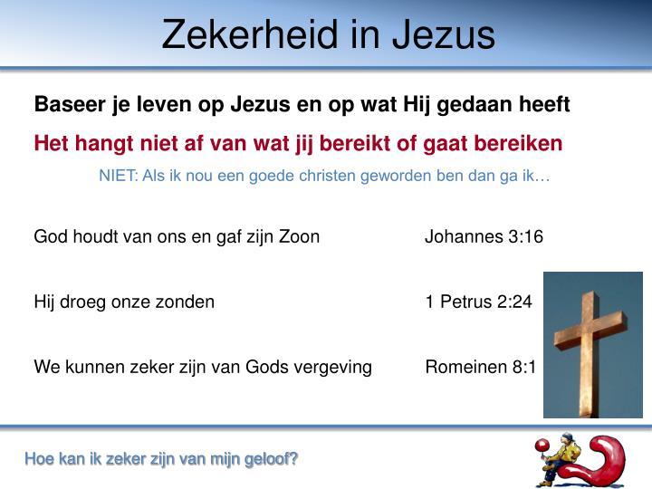 Zekerheid in Jezus