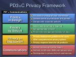pd3 c privacy framework