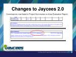 changes to jaycees 2 0