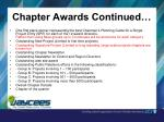 chapter awards continued