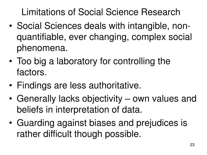 advantages and disadvantages of social science research