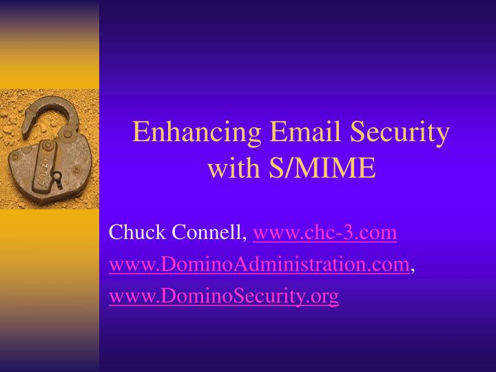 Enhancing email security with s mime
