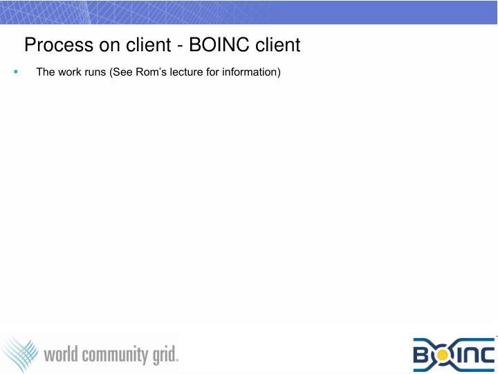 Process on client - BOINC client