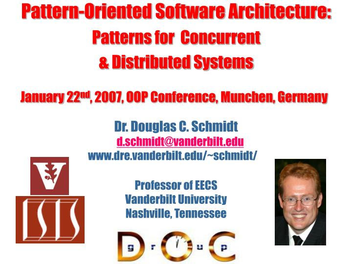 pattern oriented software architecture patterns for concurrent distributed systems n.