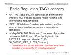 radio regulatory tag s concern