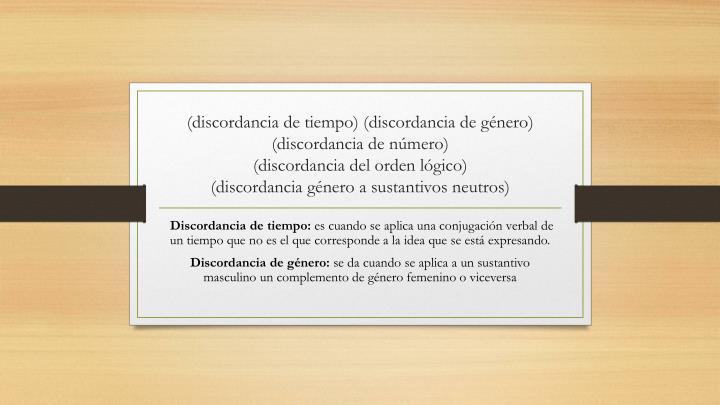 (discordancia de tiempo