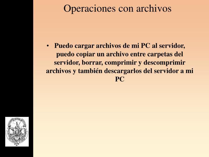 Operaciones con archivos