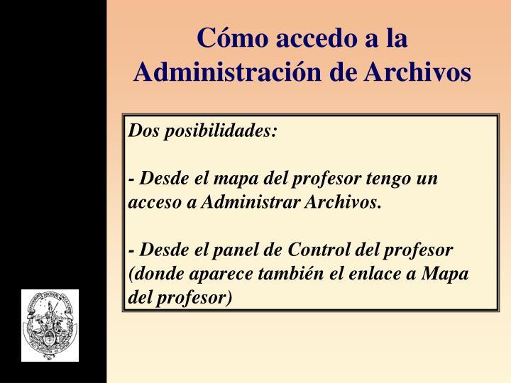 Cómo accedo a la Administración de Archivos