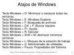 atajos de windows