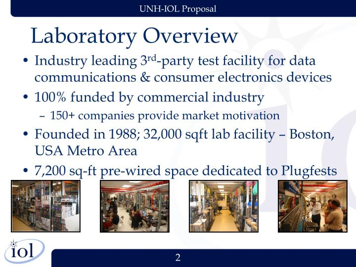 Laboratory overview