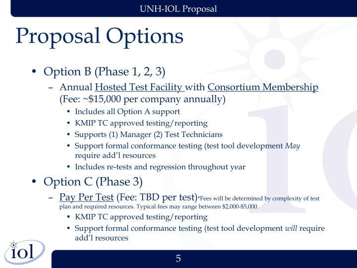 Proposal Options