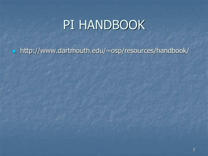 Pi handbook