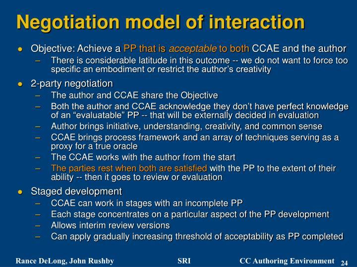 Negotiation model of interaction