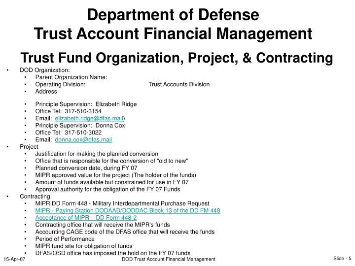 DOD Organization: