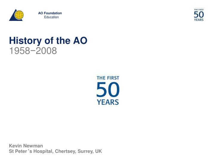 history of the ao n.