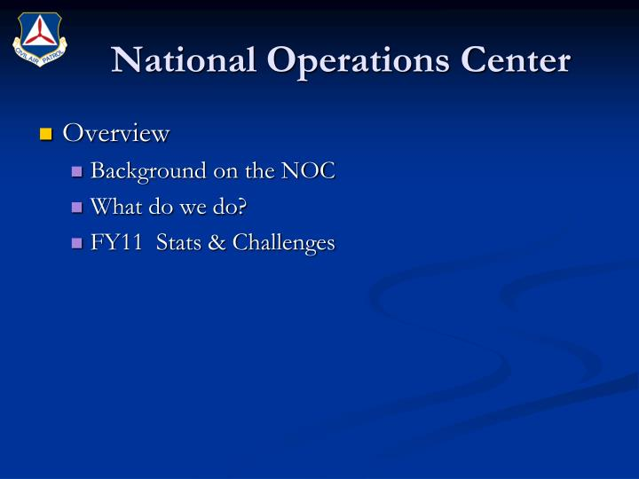 National operations center1