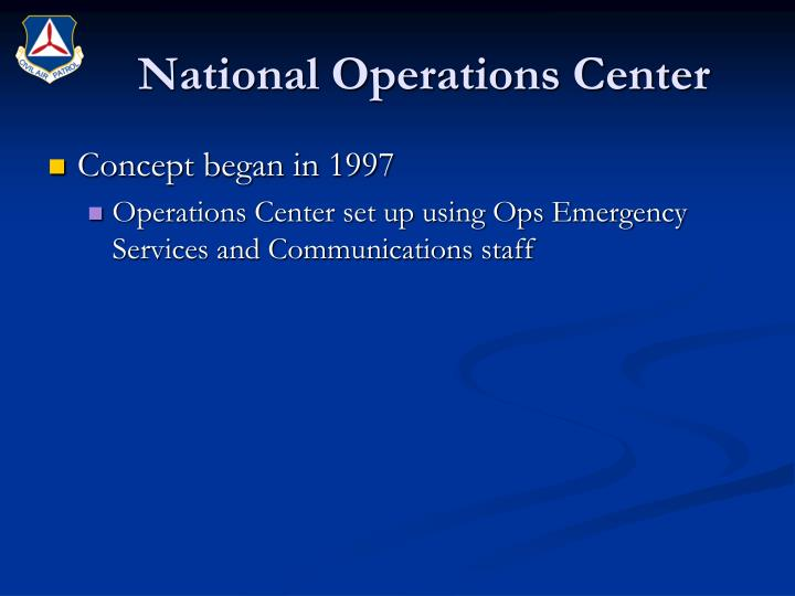 National operations center2