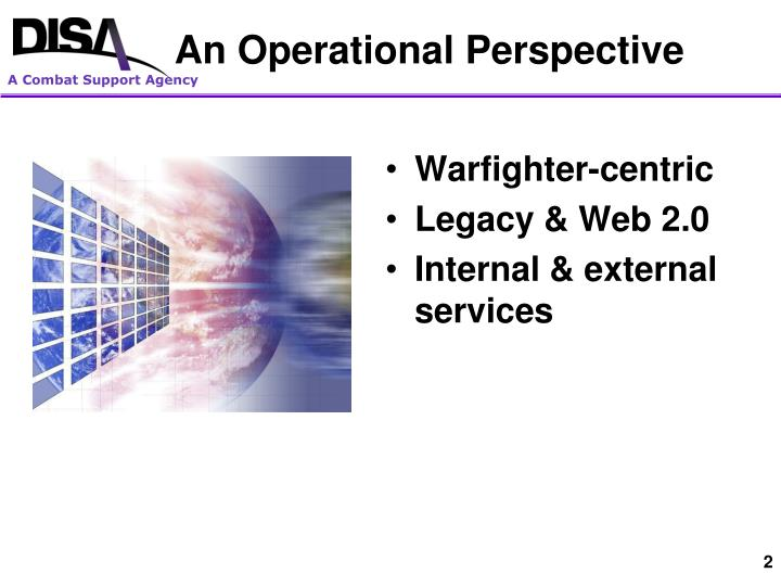 An operational perspective
