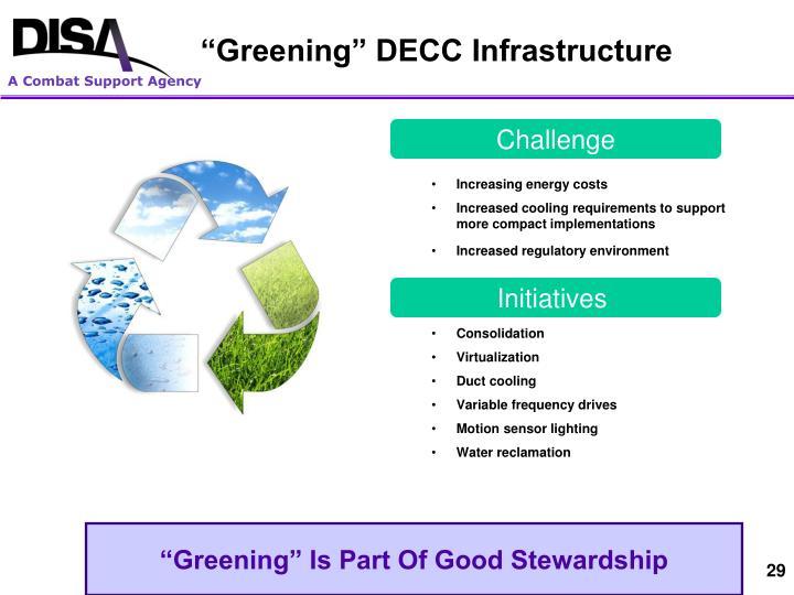 """""""Greening"""" DECC Infrastructure"""