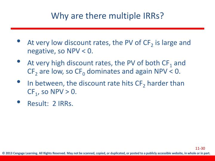 Why are there multiple IRRs?