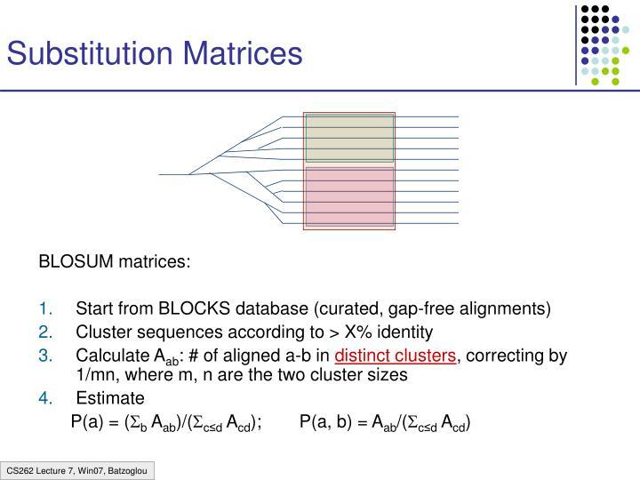 Substitution Matrices