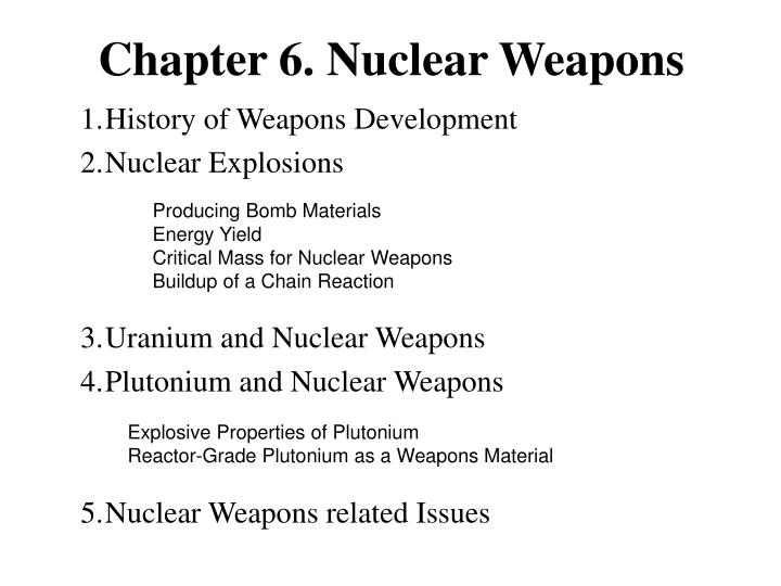 chapter 6 nuclear weapons n.