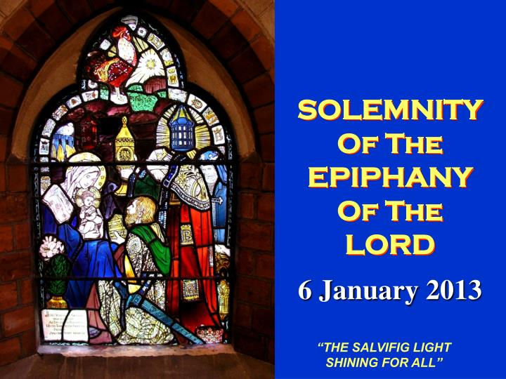 solemnity of the epiphany of the lord n.