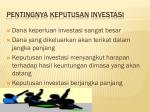 pentingnya keputusan investasi