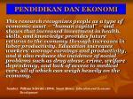pendidikan dan ekonomi