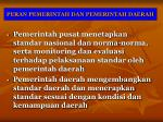 peran pemerintah dan pemerintah daerah