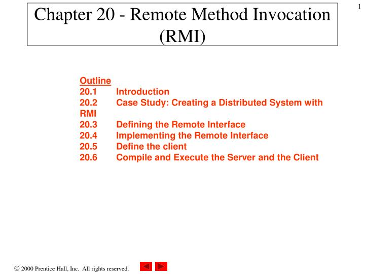 java rmi case study distributed system ppt