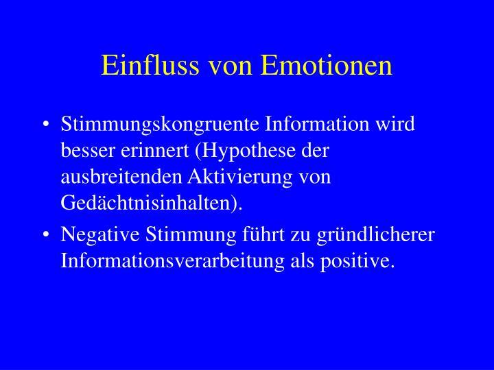 Einfluss von Emotionen