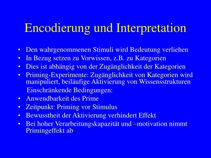 Encodierung und Interpretation