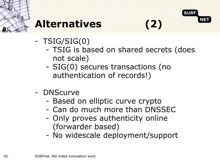 Alternatives(2)