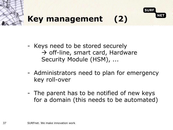 Key management (2)