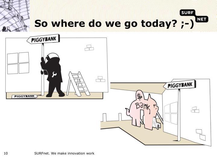 So where do we go today? ;-)
