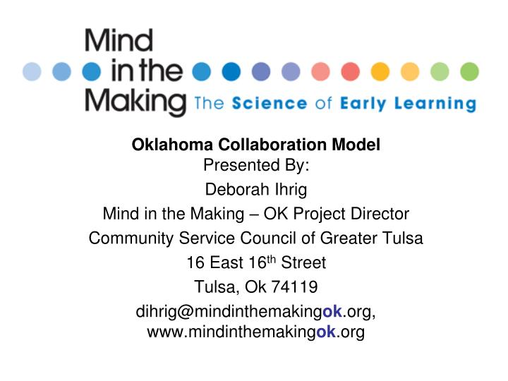 Oklahoma Collaboration Model