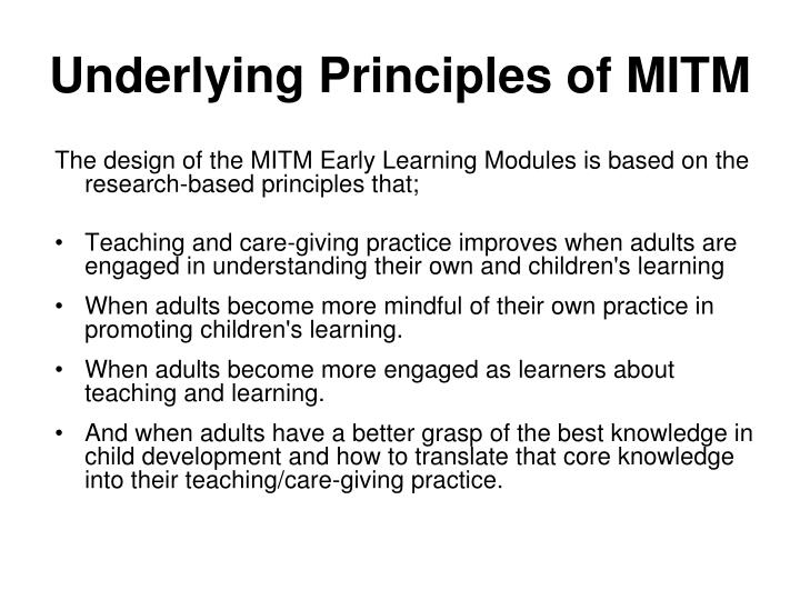 Underlying Principles of MITM