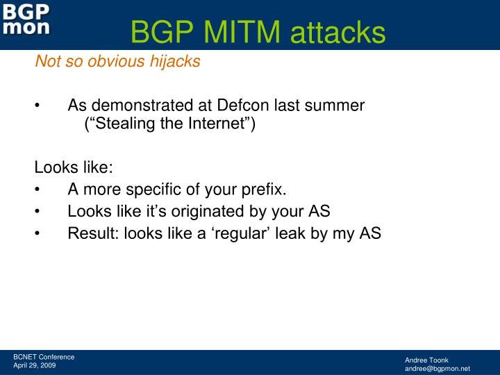 BGP MITM attacks