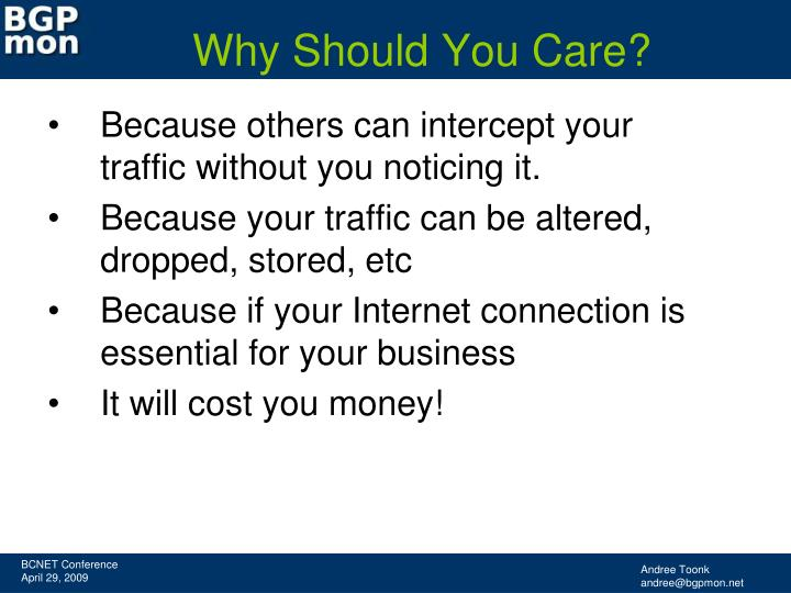 Why should you care