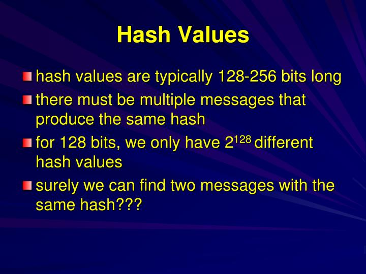Hash Values