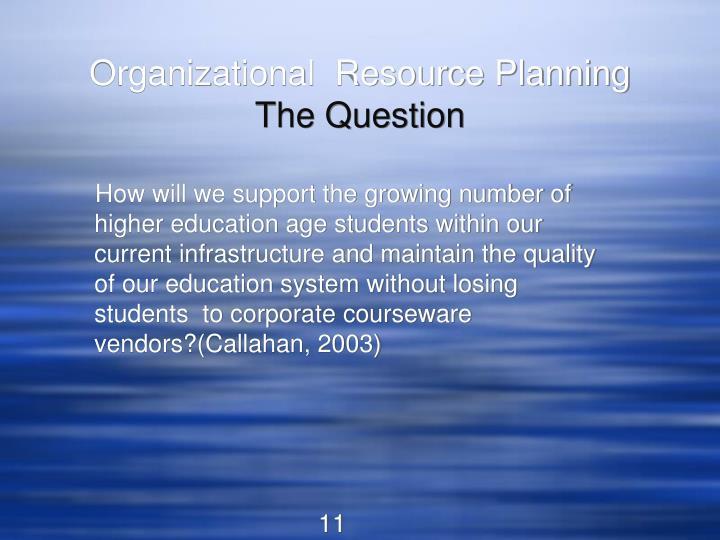Organizational  Resource Planning