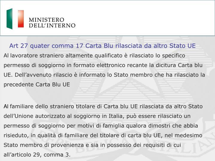 PPT - Ingresso in Italia Lavoratori extracomunitari altamente ...